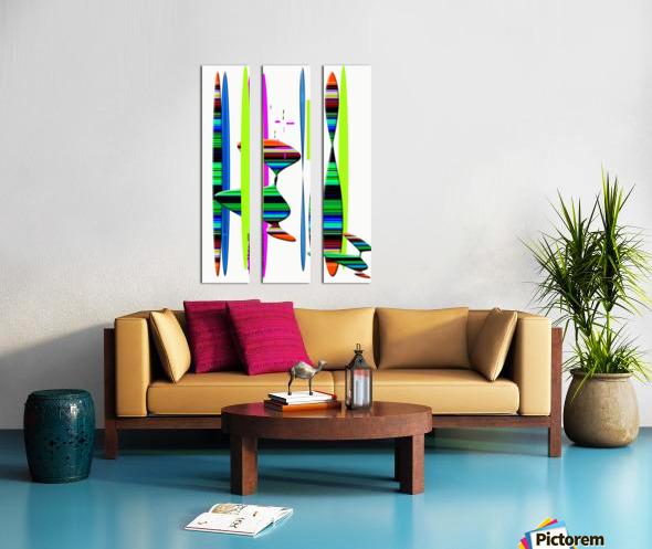 LINEAR 1 Split Canvas print