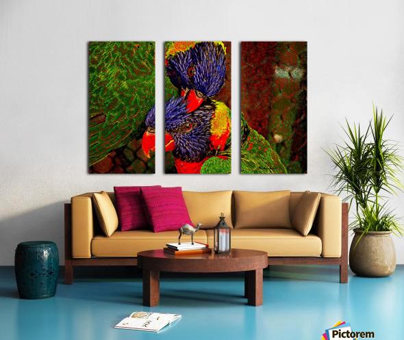 Lovebirds Split Canvas print