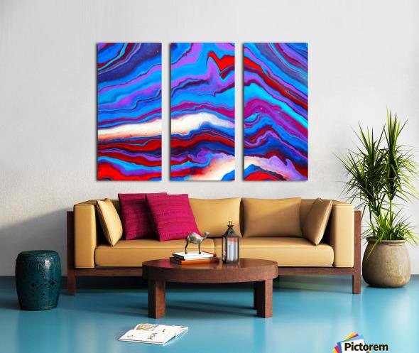 Mountain Split Canvas print