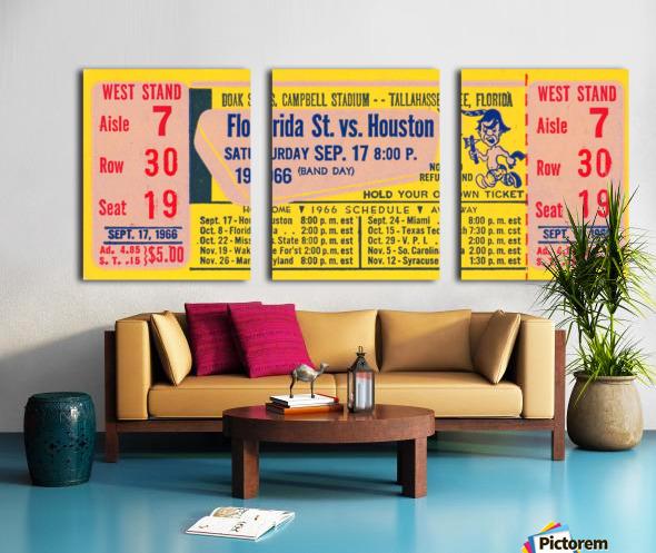 florida state seminoles ticket stub art Split Canvas print