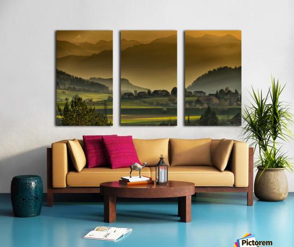 landscape autumn twilight mountains_1588527933.2293 Split Canvas print