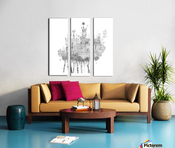 Oasis Split Canvas print