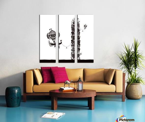 Torre dell orologio Split Canvas print