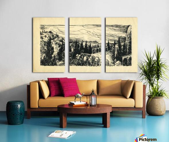 BNC1967-07 Split Canvas print
