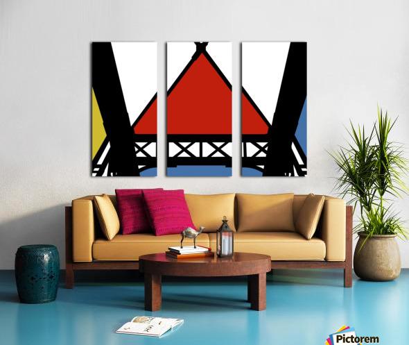 Bridge XII Split Canvas print