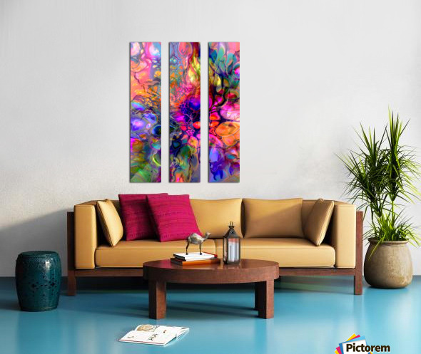 TRANSPARENCIES 2 Split Canvas print