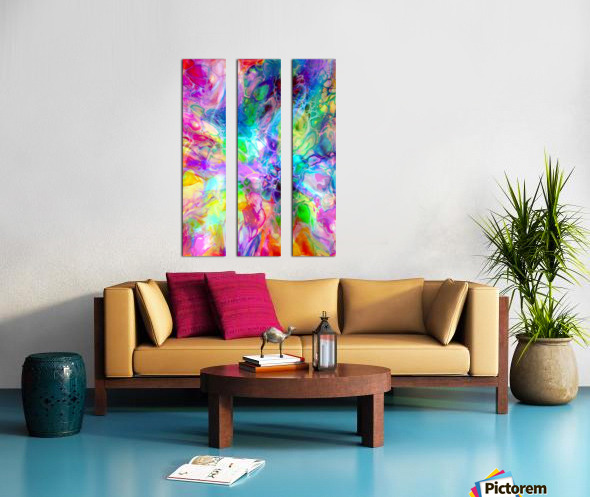TRANSPARENCIES 4 Split Canvas print
