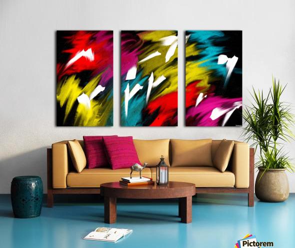 Neon Smoke Split Canvas print
