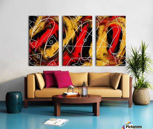 Phoenix Split Canvas print