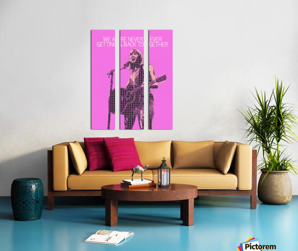 We Are Never Ever Getting Back Together   Taylor Swift Split Canvas print