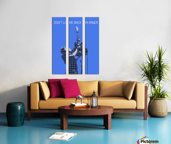 Dont Look Back In Anger   Noel Gallagher Split Canvas print
