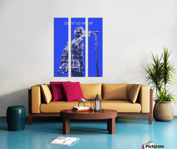 Dont Go Away   Liam Gallagher Split Canvas print