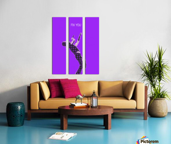 Fix You   Chris Martin Split Canvas print