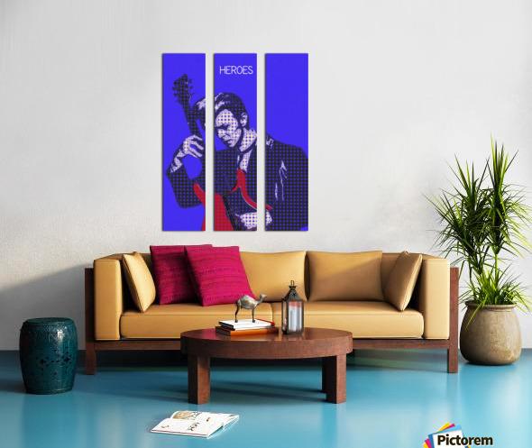 Heroes   David Bowie Split Canvas print