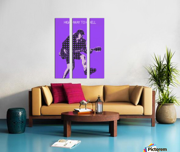 Highway to Hell   Angus Young Split Canvas print