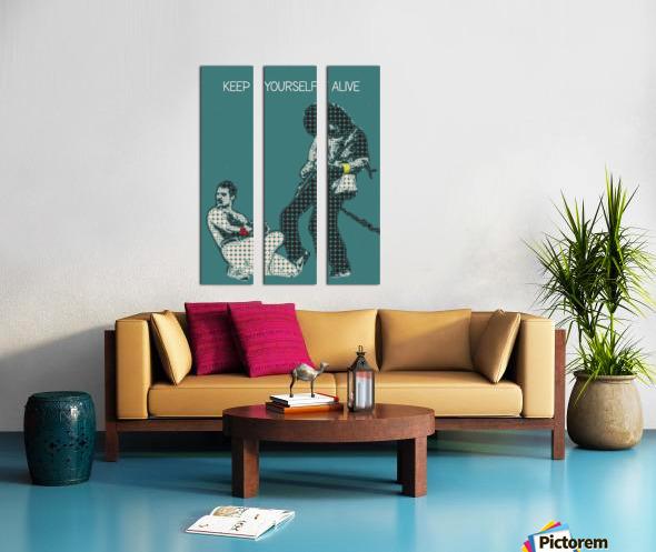 Keep Yourself Alive   Queen Split Canvas print