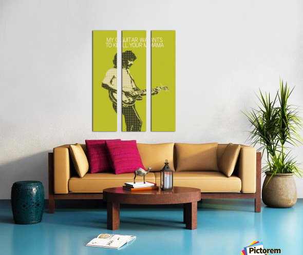 My Guitar Wants To Kill Your Mama   Frank Zappa Split Canvas print