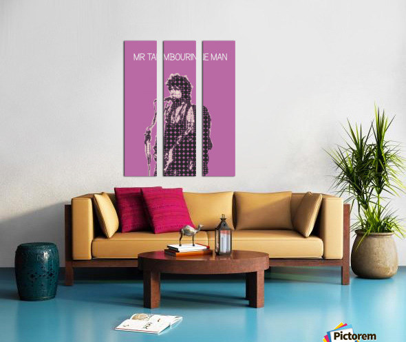 Mr Tambourine Man   Bob Dylan Split Canvas print