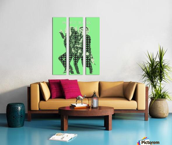 Paint it Black   Mick Jagger and Keith Richards Split Canvas print