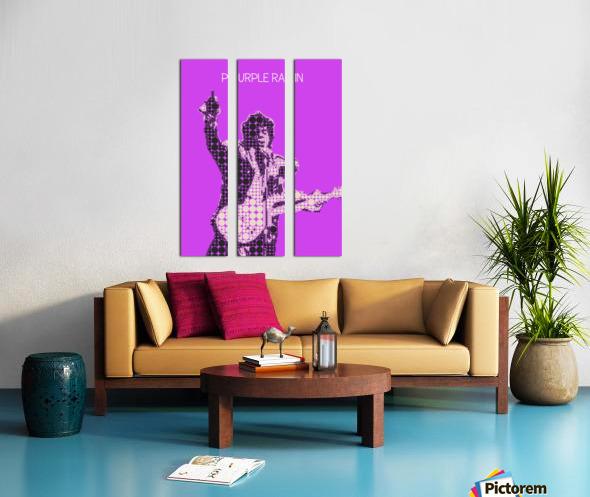 Purple Rain   Prince Split Canvas print