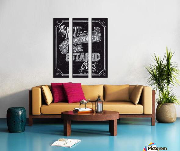 Why Fit In Split Canvas print