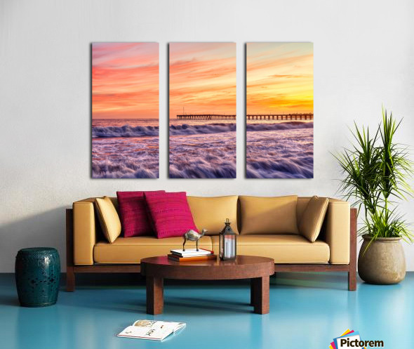 Energized Split Canvas print