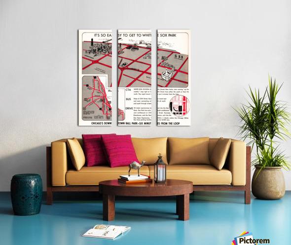 chicago map Split Canvas print