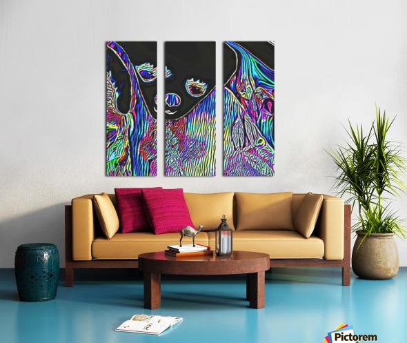 Neon Dreams Split Canvas print