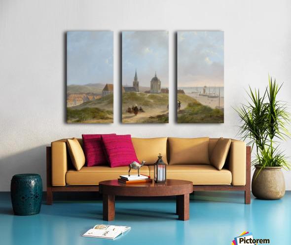 View on Scheveningen Split Canvas print