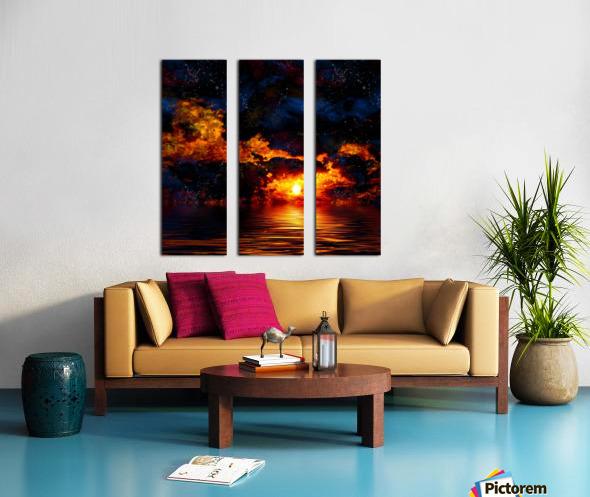 Amazing Sunset Split Canvas print