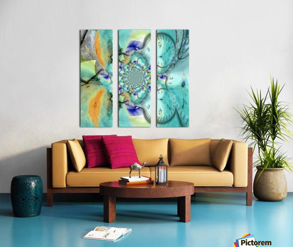 Infinite Vibes Split Canvas print