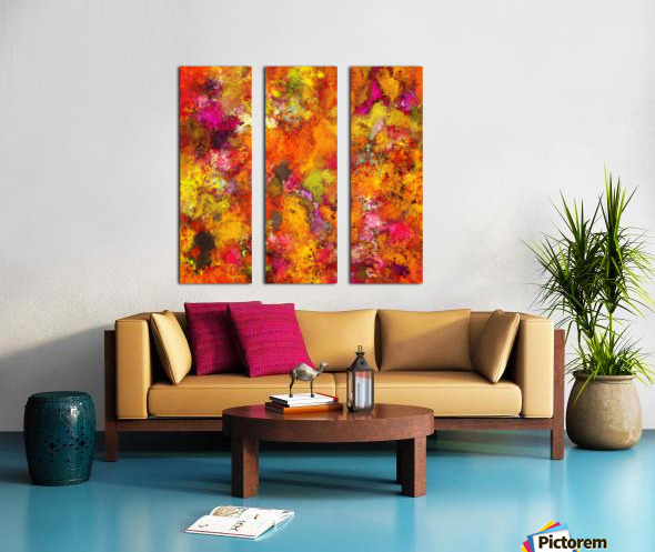 Orange pop Split Canvas print