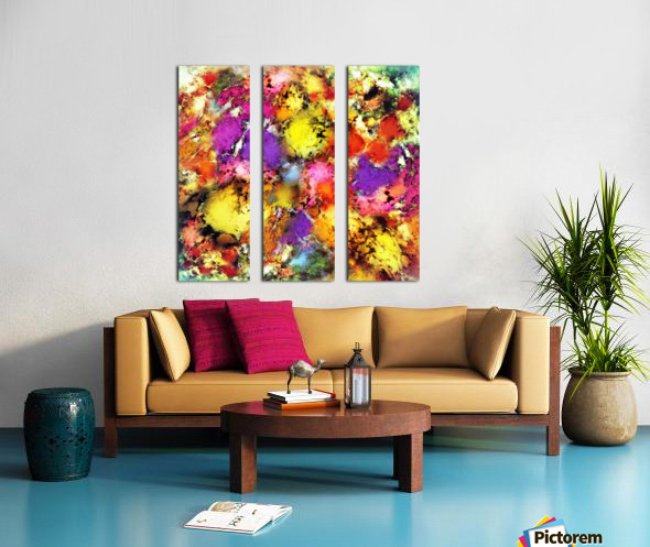 Pigment noise Split Canvas print