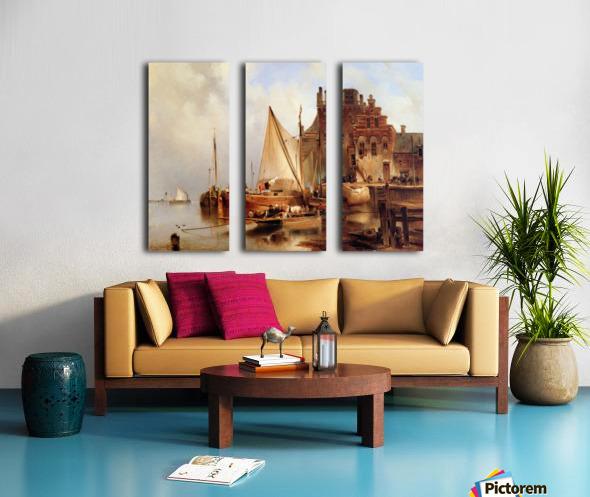 Hove van H - The ferry - Sun Split Canvas print