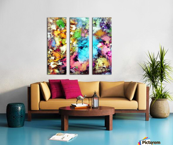 Punch Split Canvas print