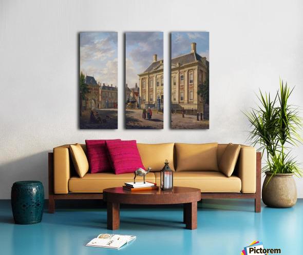 Het Mauritshuis te Den Haag Split Canvas print