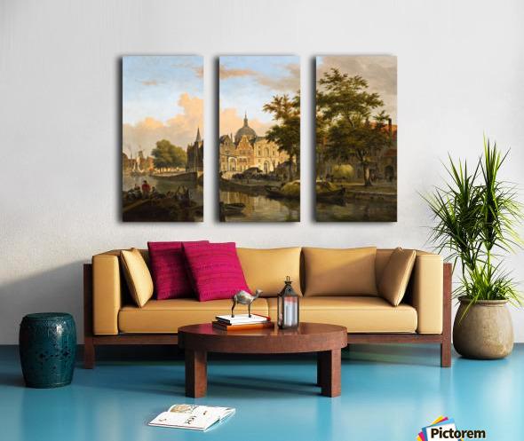 View of a Dutch City Split Canvas print