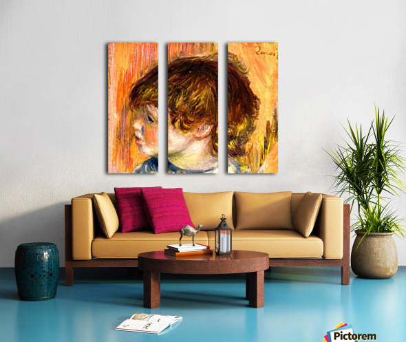 Head of a young girl Split Canvas print