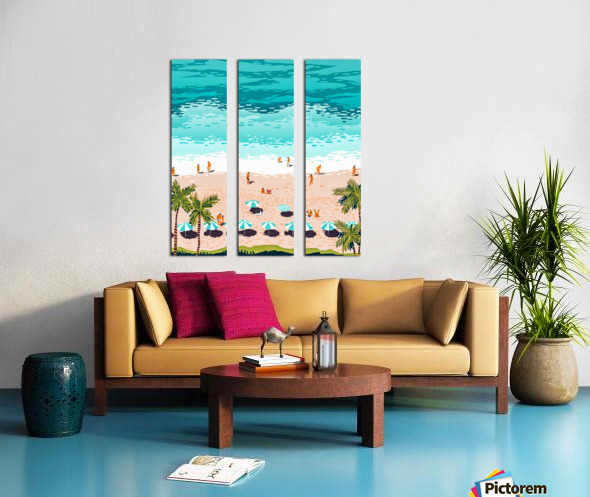 Dream in Colors Borrowed From The Sea Split Canvas print