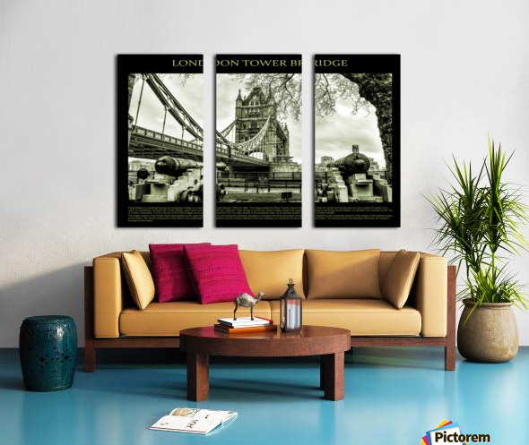 Vintage London Tower Bridge Split Canvas print
