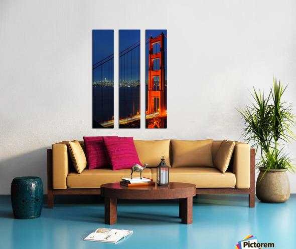 Golden Gate Bridge at Night Split Canvas print