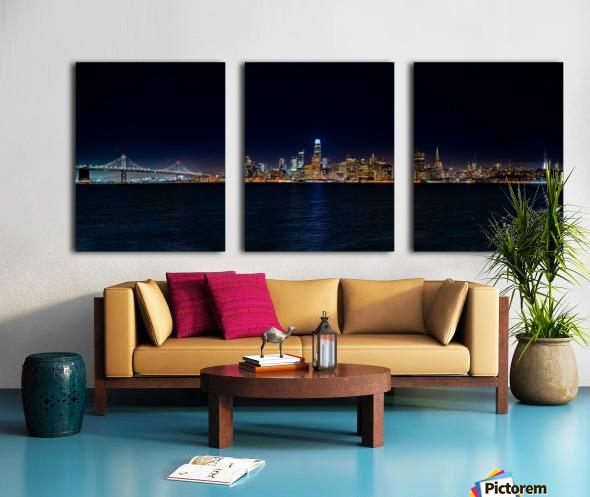San Francisco City Skyline Panorama Split Canvas print