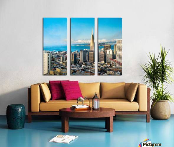 San Francisco Skyline Split Canvas print
