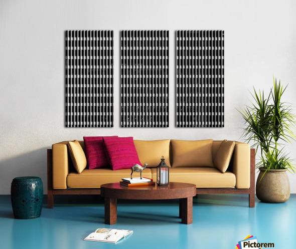 Black and White Skyscraper Windows Split Canvas print