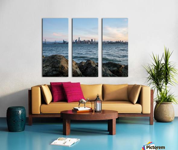 San Francisco City Skyline At Sunset Split Canvas print