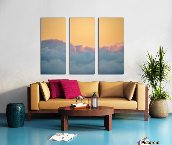 Clouds at Sunset Split Canvas print