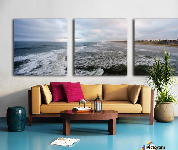 Huntington Beach Panorama Split Canvas print