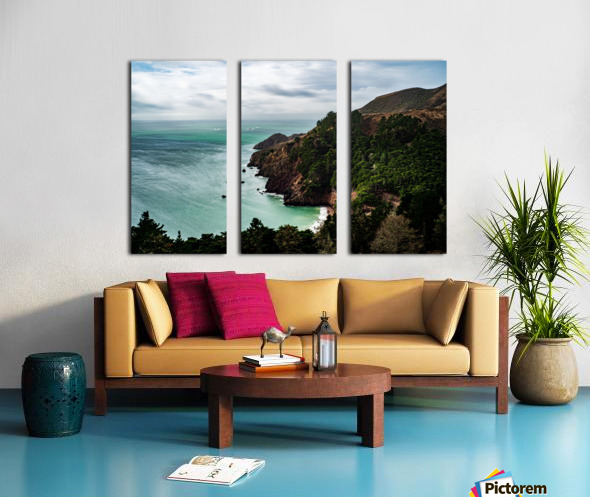 Kirby Cove Split Canvas print
