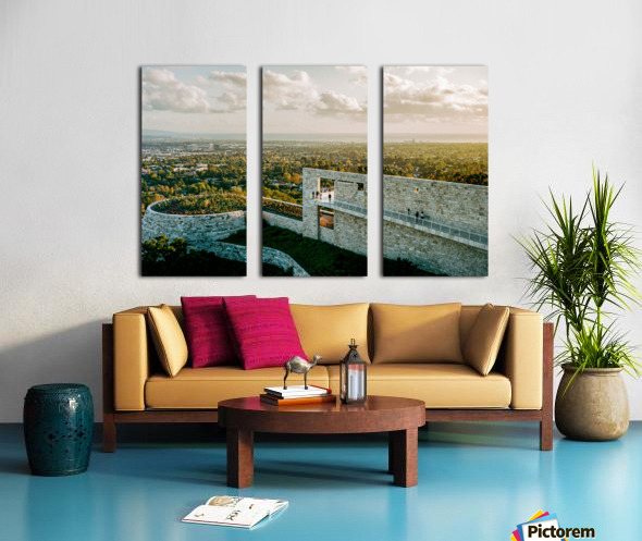 Sunset At The Getty Split Canvas print