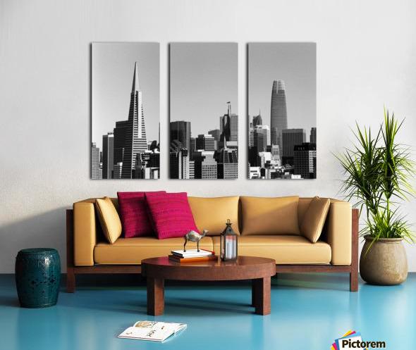 Black and White San Francisco Skyline Split Canvas print